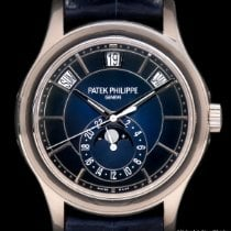 Patek Philippe White gold Automatic Blue No numerals 40mm new Annual Calendar