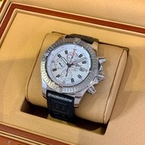 Breitling Super Avenger pre-owned 48.4mm White Chronograph Date Rubber