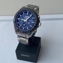 Seiko Astron GPS Solar Chronograph Acero Azul