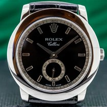 Rolex Cellini pre-owned 38mm Black Leather