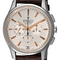 Zenith Captain Chronograph Steel 42mm Silver No numerals
