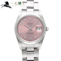 Rolex Oyster Perpetual Date Stahl 34mm Pink
