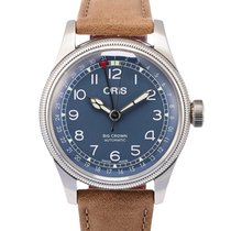 Oris Big Crown Pointer Date Stahl 40mm Blau Arabisch Deutschland, Berlin