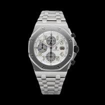 Audemars Piguet Royal Oak Offshore Chronograph occasion 42mm Argent Chronographe Date Caoutchouc
