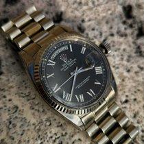 Rolex Day-Date 36 Oro blanco 36mm Negro Sin cifras