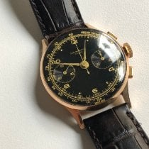 Chronographe Suisse Cie Rose gold Manual winding Chronographe Suisse Rose Gold Plated Black Dial pre-owned