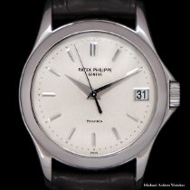 Patek Philippe Calatrava White gold 37mm Silver No numerals United States of America, New York, New York