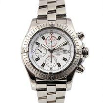 Breitling Super Avenger occasion 48mm Blanc Chronographe Date Acier