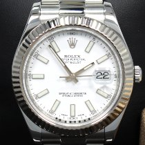 Rolex Datejust II Acero 41mm Blanco Sin cifras