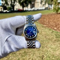 Rolex Steel Automatic Blue 36mm pre-owned Datejust
