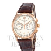 Patek Philippe Chronograph Rose gold 39mm Silver Arabic numerals United States of America, New York, Hartsdale