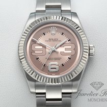 Rolex Oyster Perpetual 31 Gold/Steel 31mm Pink Arabic numerals