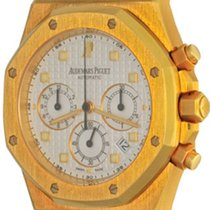 Audemars Piguet Royal Oak Chronograph Or jaune 39mm Blanc Sans chiffres