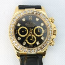Rolex Daytona 16518 Rolex Daytona 750er/18K Gelbgold Diamanten Lederband gebraucht