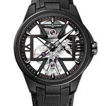 Ulysse Nardin 3713-260/BLACK Titanium 2021 Classic Skeleton Tourbillon 42mm new