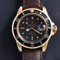Rolex Submariner Date подержанные 40mm Чёрный Дата Кожа