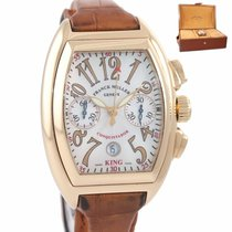 Franck Muller Conquistador Rose gold 40mm Silver Arabic numerals United States of America, New York, Huntington