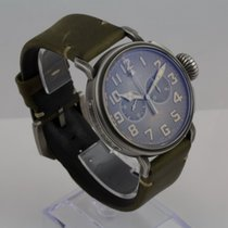 Zenith Pilot Type 20 pre-owned 45mm Grey Chronograph Leather