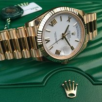 Rolex Day-Date 40 Oro amarillo 40mm Blanco