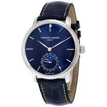 Frederique Constant Manufacture Slimline Moonphase Steel 42mm Blue United States of America, Maryland, Gambrills