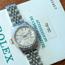 Rolex Oyster Perpetual Lady Date occasion 26mm Blanc Date Acier