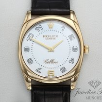 勞力士 Cellini Danaos 黃金 33mm 白色 阿拉伯數字