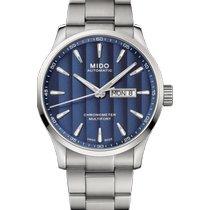 Mido Multifort Acier 42mm Bleu Sans chiffres