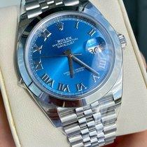 Rolex Datejust Stahl 41mm Blau