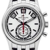 Patek Philippe Annual Calendar Chronograph Acero 40.5mm Blanco