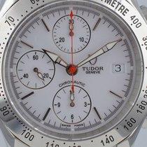 Tudor Chronautic Stahl 41mm Silber Keine Ziffern