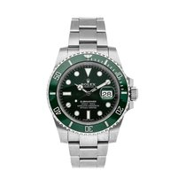 Rolex Submariner Date Stål 40mm Grön Inga siffror