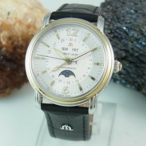 Maurice Lacroix Masterpiece Phases de Lune occasion 38mm Blanc Cuir