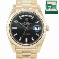 Rolex Day-Date 40 Oro amarillo 40mm Negro