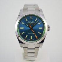 Rolex Milgauss Staal 40mm Blauw Geen cijfers Nederland, Franeker