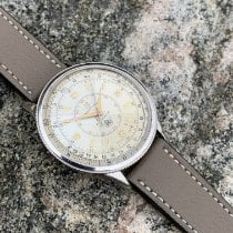 Breitling Chronomat begagnad 37mm Vit Läder