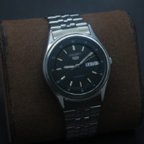 Seiko 5 Steel 36mm Black