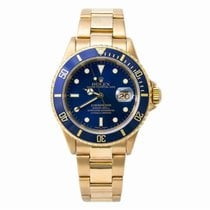 Rolex Submariner Date Yellow gold 42mm Blue No numerals United States of America, New York, New York