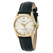 Rolex Yellow gold Automatic Champagne pre-owned Oyster Perpetual 34