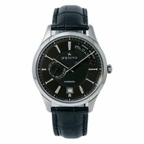 Zenith Captain Power Reserve Acero 43mm Negro Sin cifras