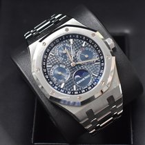 Audemars Piguet Royal Oak Perpetual Calendar Steel 41mm Blue No numerals