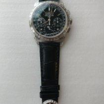 百達翡麗 Perpetual Calendar Chronograph 鉑 41mm 黑色 無數字
