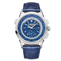 Patek Philippe World Time Chronograph White gold 40mm Blue United States of America, New York, New York