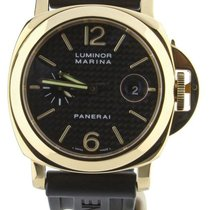 Panerai Luminor Marina Automatic Or jaune 44mm Noir