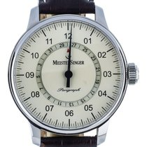 Meistersinger pre-owned Automatic 43mm Champagne Sapphire crystal 10 ATM
