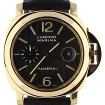 Panerai Yellow gold Automatic Black 44mm Luminor Marina Automatic