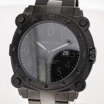Hamilton Khaki Navy BeLOWZERO Steel 46mm Black Arabic numerals