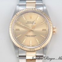 Rolex Datejust Gold/Steel 34mm Gold No numerals