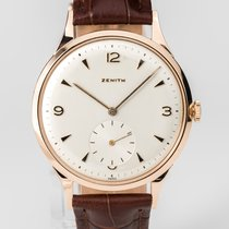 Zenith Rose gold Manual winding Champagne Arabic numerals 37mm pre-owned