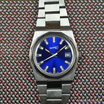 Eberhard & Co. pre-owned Manual winding Blue Mineral Glass 3 ATM