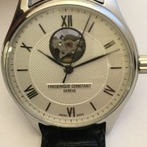Frederique Constant Classics Heart Beat Steel 40mm Silver Roman numerals
